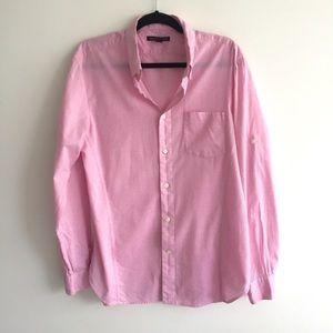 JOHN VARVATOS Button Down Long Sleeve Shirt Pink M